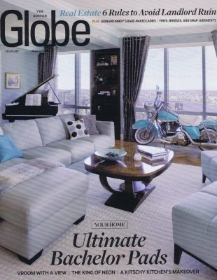 Elms Interior Design Featured in Boston Globe's Ultimate Bachelor Pads