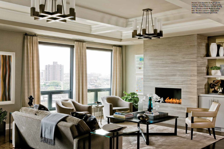 Back Bay Condo Gets A Dynamic New Look Elms Interior Design Fascinating Living Room Boston Design